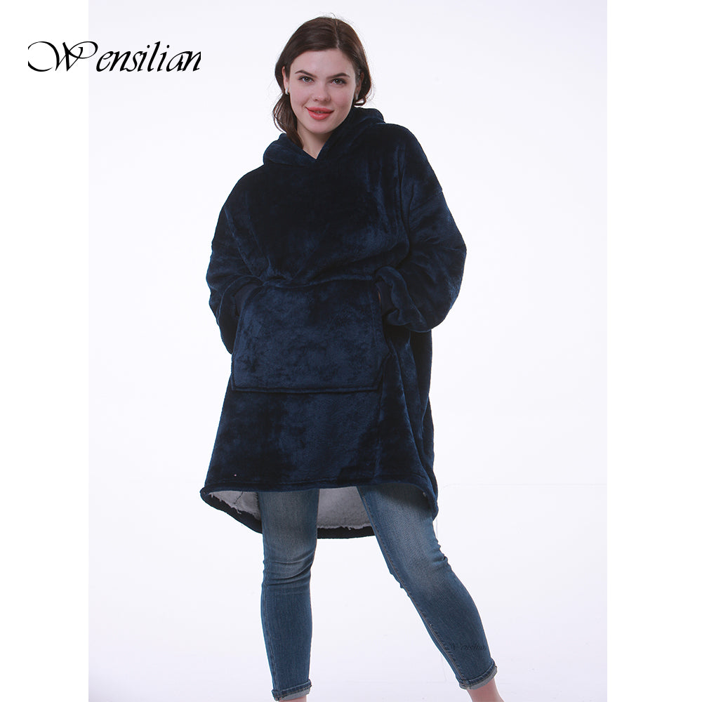 Women Oversized Fleece Warm Hoodies Sweatshirts