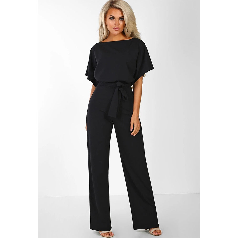 Pants O Neck Short Sleeve Hollow Rompers
