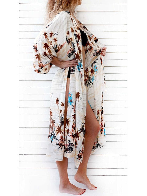 Women Sexy Beach Cover up Embroidery Swimsuit