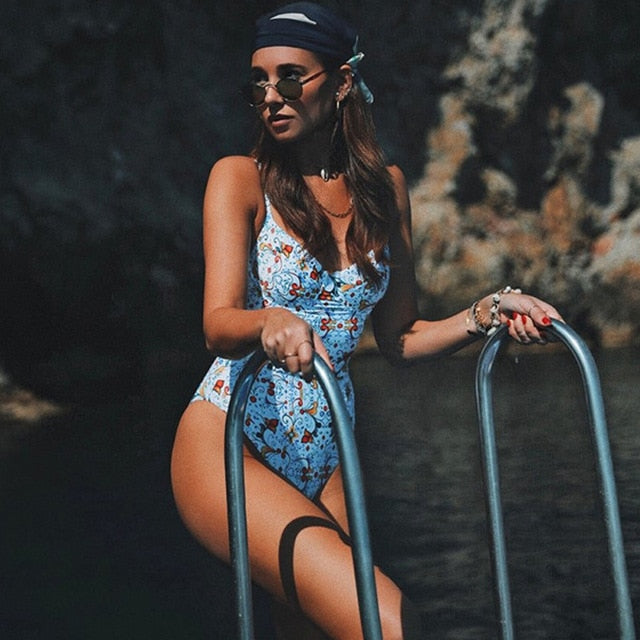 2020 Sexy One Piece Swimsuit