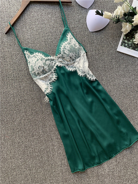 Sexy V-neck Lace Nightgown