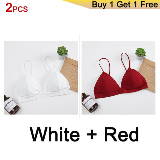 Seamless Soft Bras for Women Thin Strap