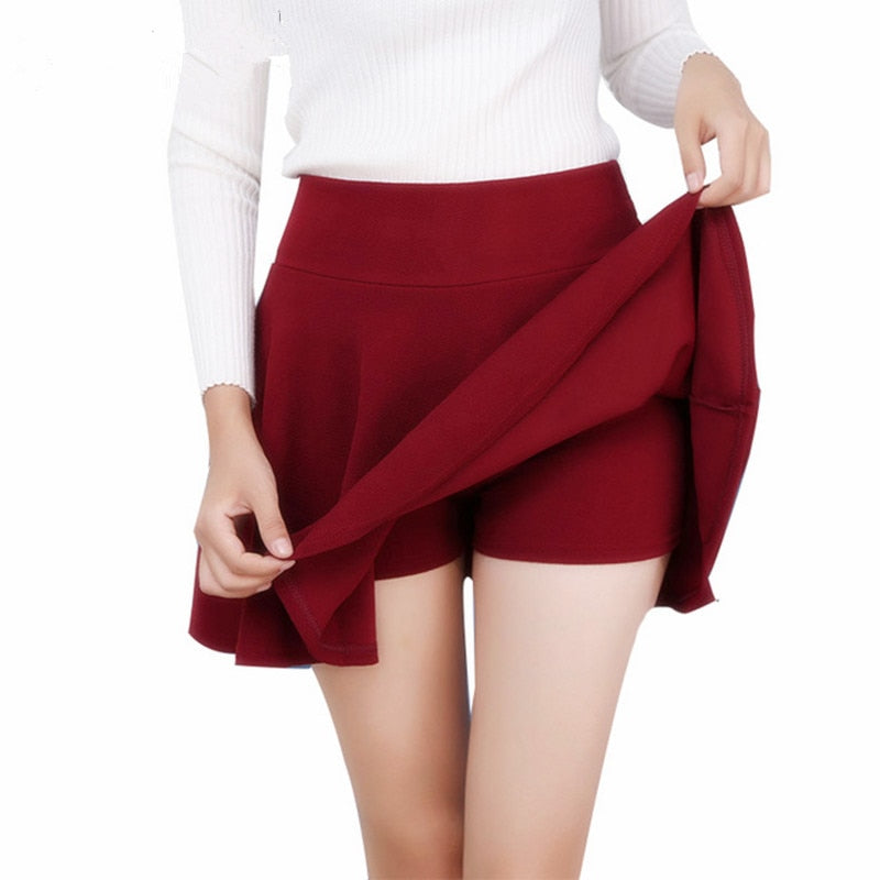 Women's High Waist Pleated Skirts
