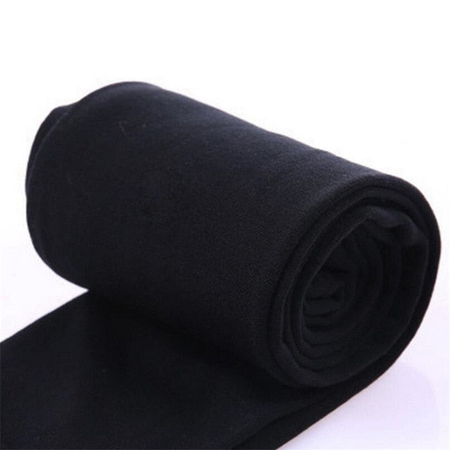 Thick Warm Legging Brushed Lining Stretch Fleece Leggings