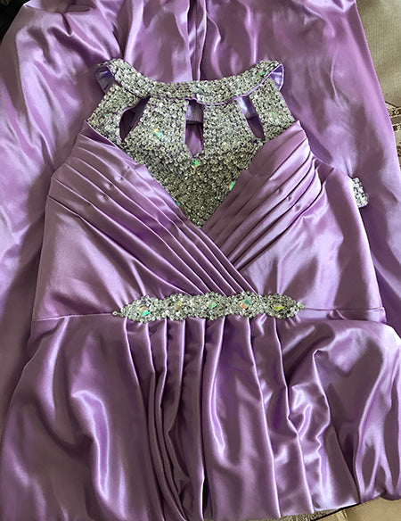 Satin Formal Prom Party Gowns Evening Dress