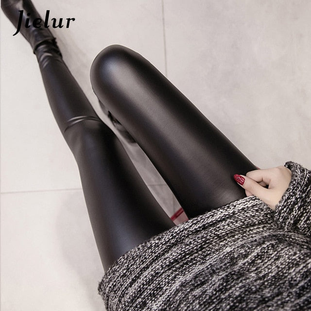 PU Faux Leather Leggings