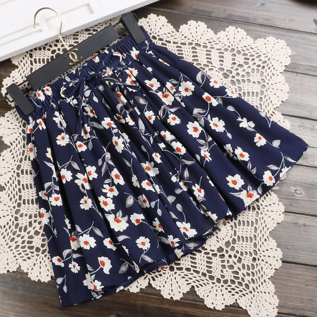 Women High Waist Floral  Printed Shorts