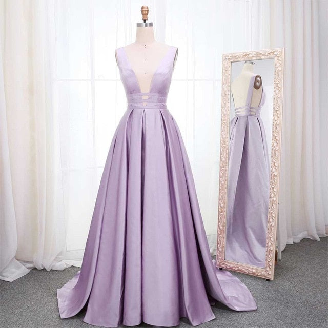 Elegant Satin Evening Dress