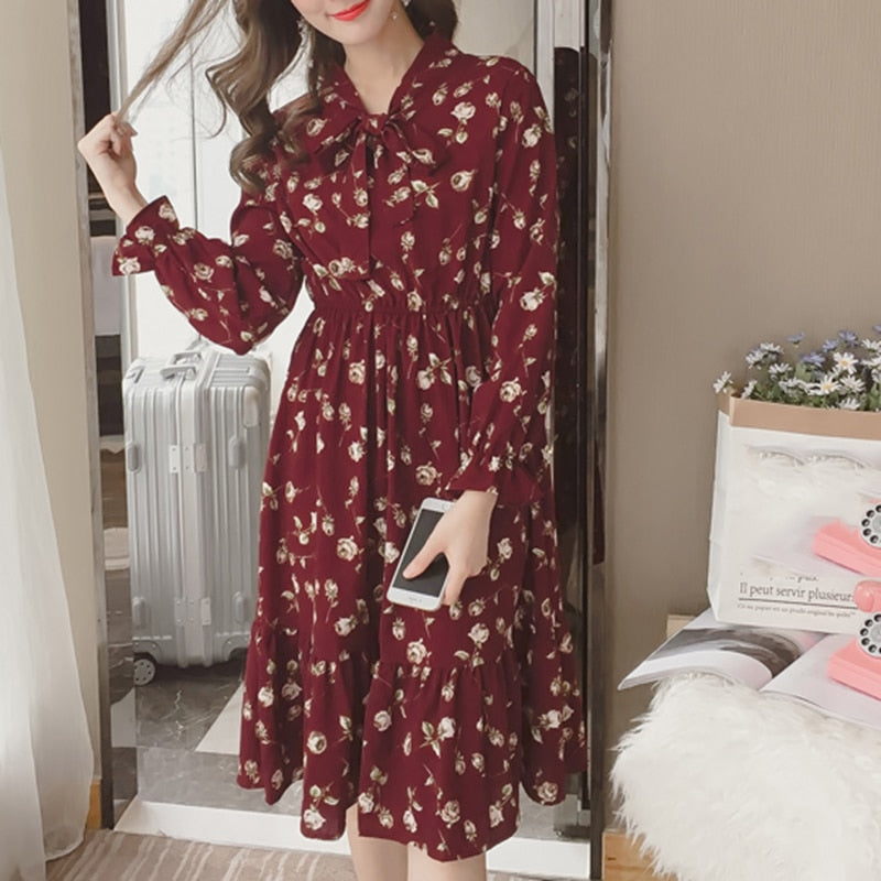 Summer Korean Chiffon Women Dress