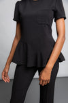 Peplum Scrub Top