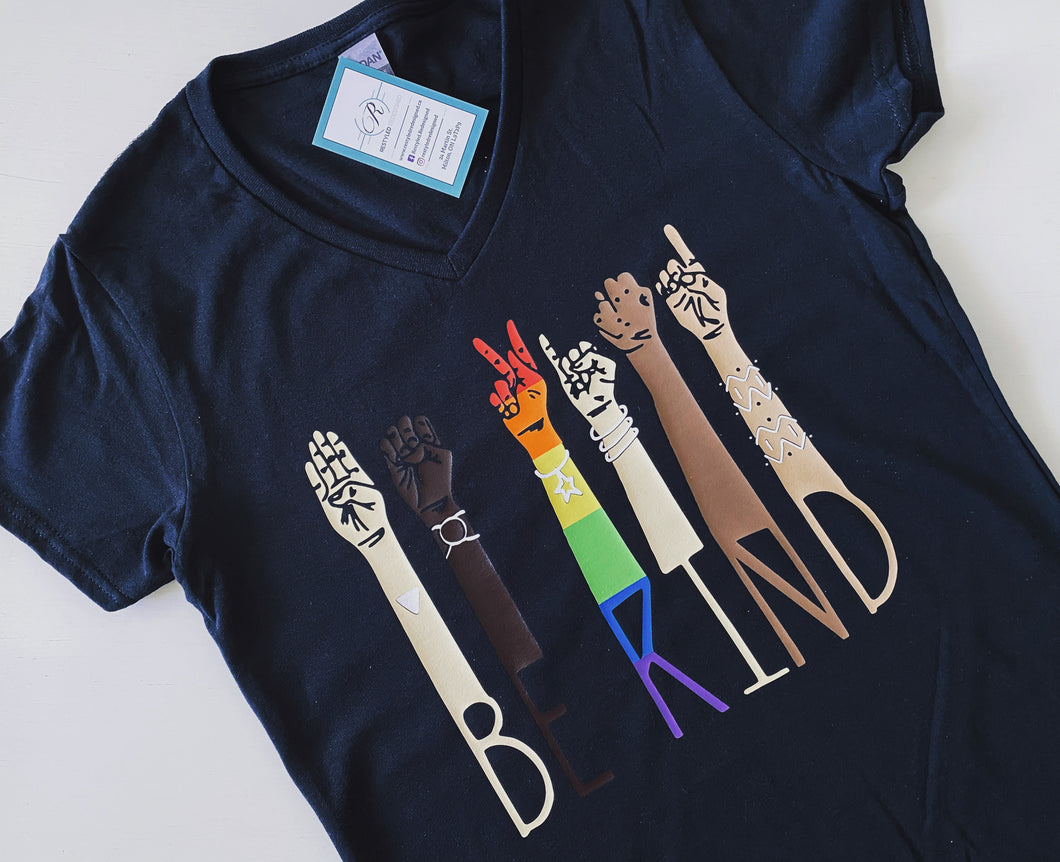 BE KIND: Sign Language and Pride T-shirt