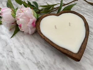 Heart Shaped Dough Bowl Candle