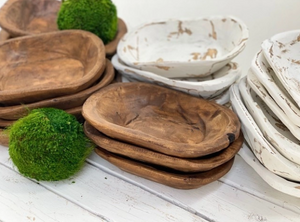 Petite Wood Dough Bowl