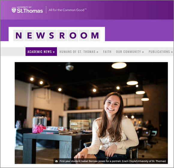 Thanks University of St. Thomas for the Feature!