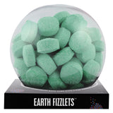 Green Earth Fizzlets with a surprise inside, scented as sea breeze.