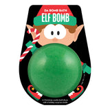 Green Elf Bomb scented as Christmas Cookie in elf artwork packaging.