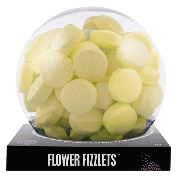 Yellow Flower Fizzlets with a surprise inside, scented as primose.