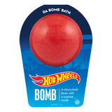 Red bath bomb, with a surprise inside, scented as cherry in Hot Wheels packaging.