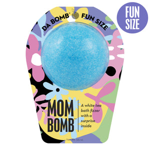 Blue FUn Size Mom bomb that has the scent white tea.