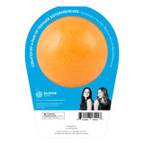 Back of Disney Pixar Finding Nemo Bath Bomb. Orange bomb in packaging and scented as sweet orange.