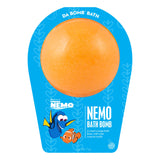 Orange Disney Pixar Finding Nemo Bath Bomb with a surprise inside, scented as sweet orange in packaging.