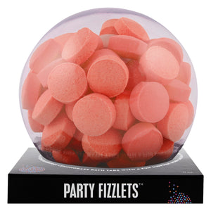 Orange Party Fizzlets with a surprise inside, scented as pineapple.