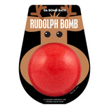 Red Rudolph Bomb with a surprise inside, scented as sweet berry in packaging.