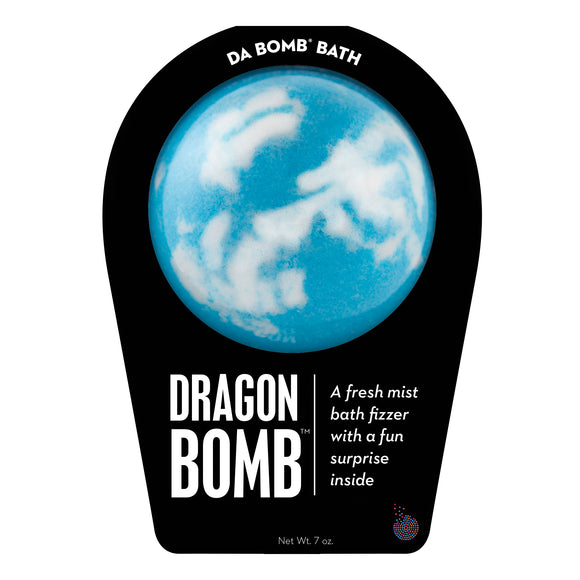 Blue and white Dragon Bomb with a surprise inside, scented as fresh mist.