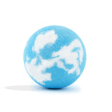 Blue and white Dragon Bomb with a surprise inside, scented as fresh mist without packaging.
