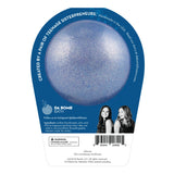 Back of Frozen II Frozen bath bomb in packaging. Bath bomb is blue shimmer on the back.