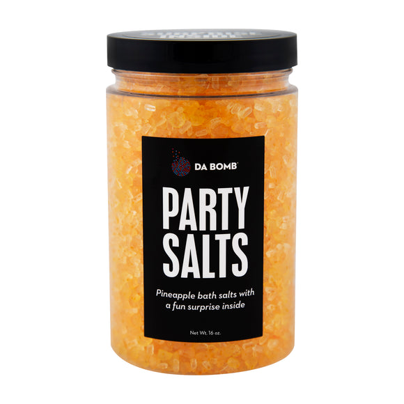 Orange Party Salts with a surprise inside, scented as pineapple.