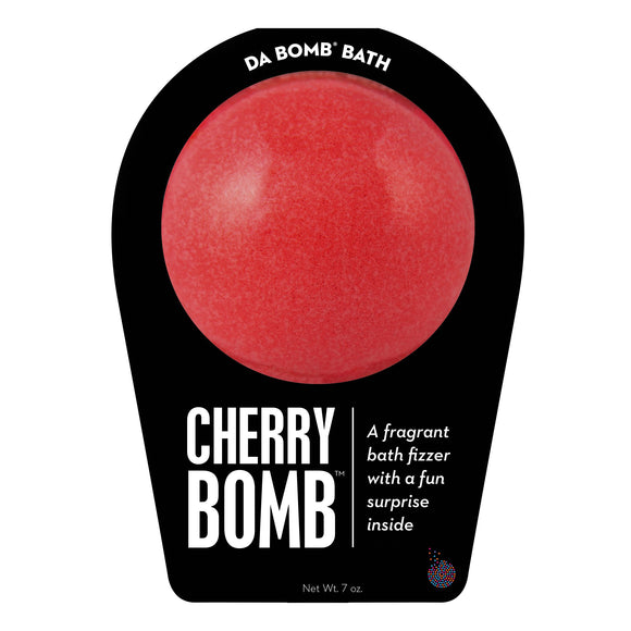 Red Cherry Bomb with a surprise inside, scented as cherry.