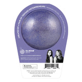 Back of Frozen II Anna bath bomb in packaging. Bath bomb is purple shimmer on the back.