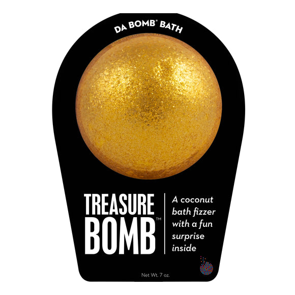 Gold Treasure Bomb with a surprise inside, scented as coconut.