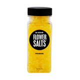 Small, clear plastic jar filled with yellow bath salt that smells like primrose. Contains a fun surprise inside.