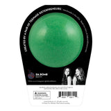 Back of the Jingle bath bomb in black packaging. Bath bomb is green on the back.