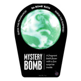 Green and white Mystery Bomb with a surprise inside, scented as mystery.