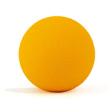 Neon orange bath bomb without packaging on white background and scented as tangerine.