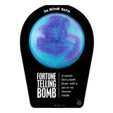 Blue and purple Fortune Telling Bomb with a surprise inside, scented as mystic berry.