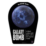 Black and white Galaxy Bomb with a surprise inside, scented as black amber.