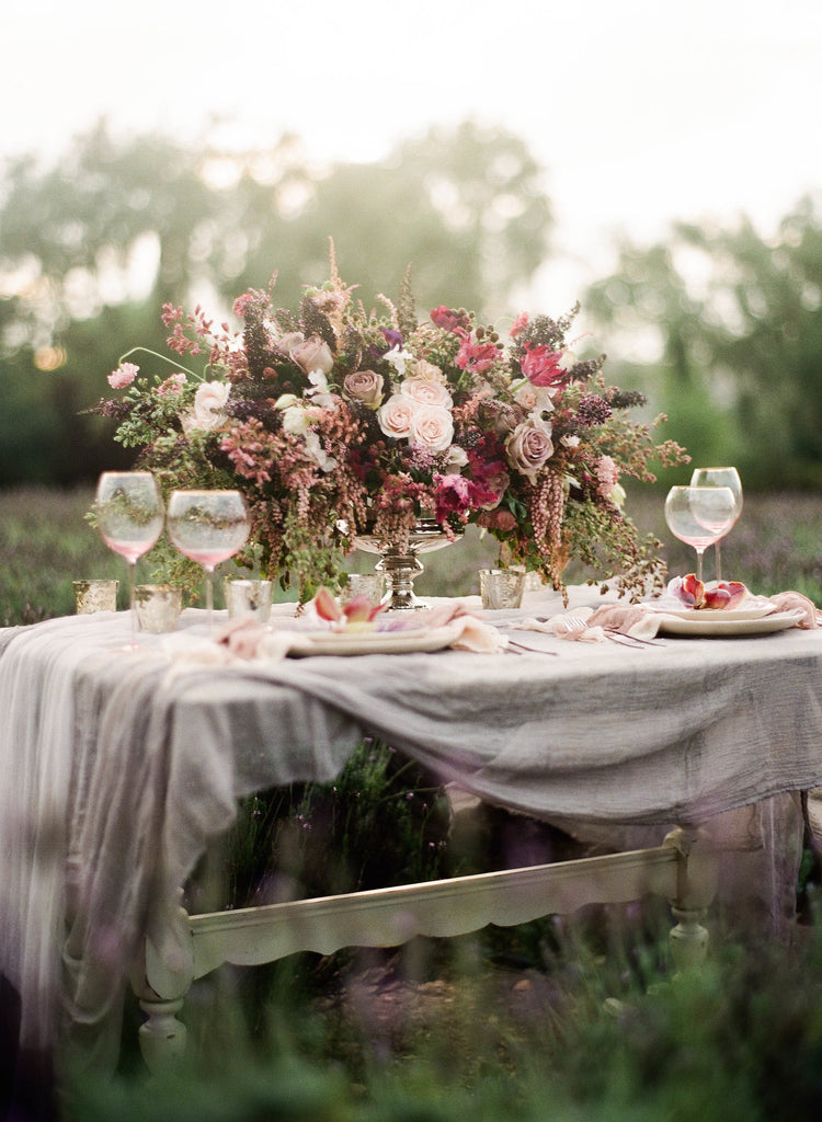 STYLE ME PRETTY / Romantic Lavender Field Inspiration Session