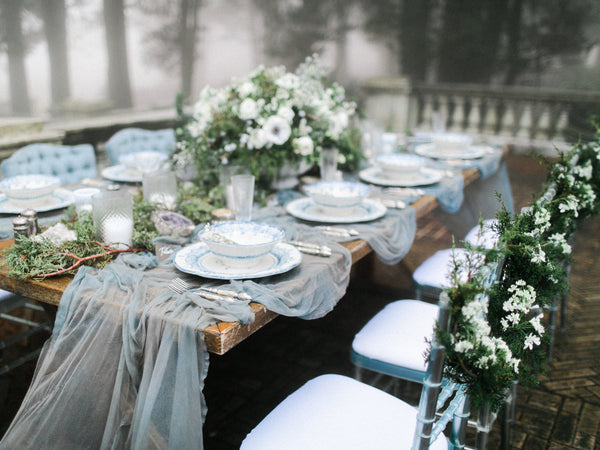 ... Dreamt Up By AMORE EVENTS BY CODY And Captured Beautifully By RACHEL  MAY PHOTOGRAPHY  Is The Perfect Setting For Our Ethereal Sheer Silk Table  Runners.