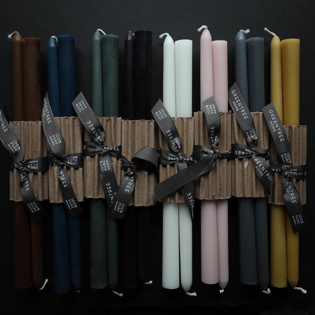 natural beeswax candles an assortment of colors