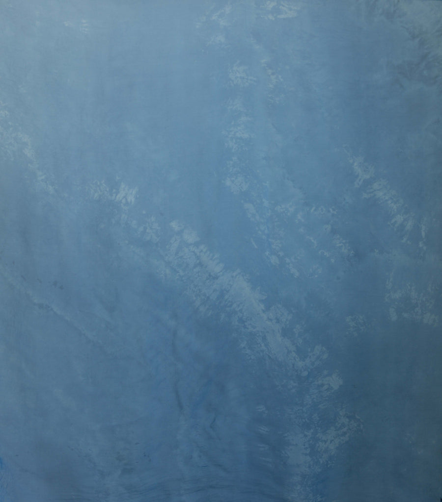 Indigo Marbled 1 yards {Sheer Silk Runner}