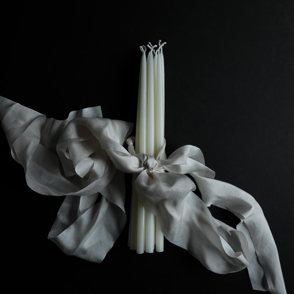 classic white candles, wedding candles, celebration candles