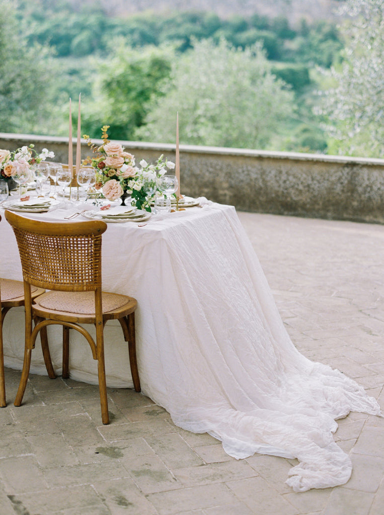 Sheer Silk Table Overlay