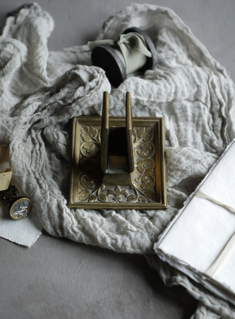 Brass Floral Letter Holder