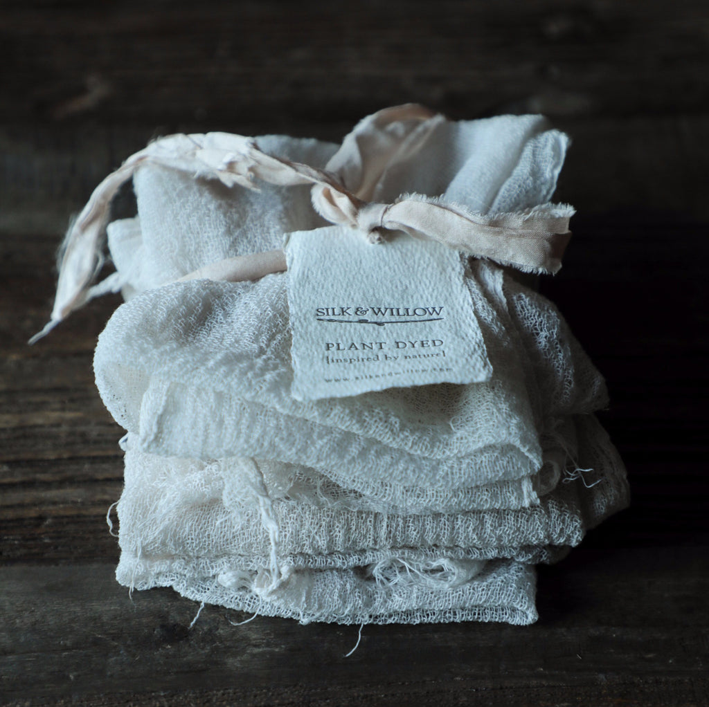 Antique White Napkins / Unfinished Edge {Medium Weave}