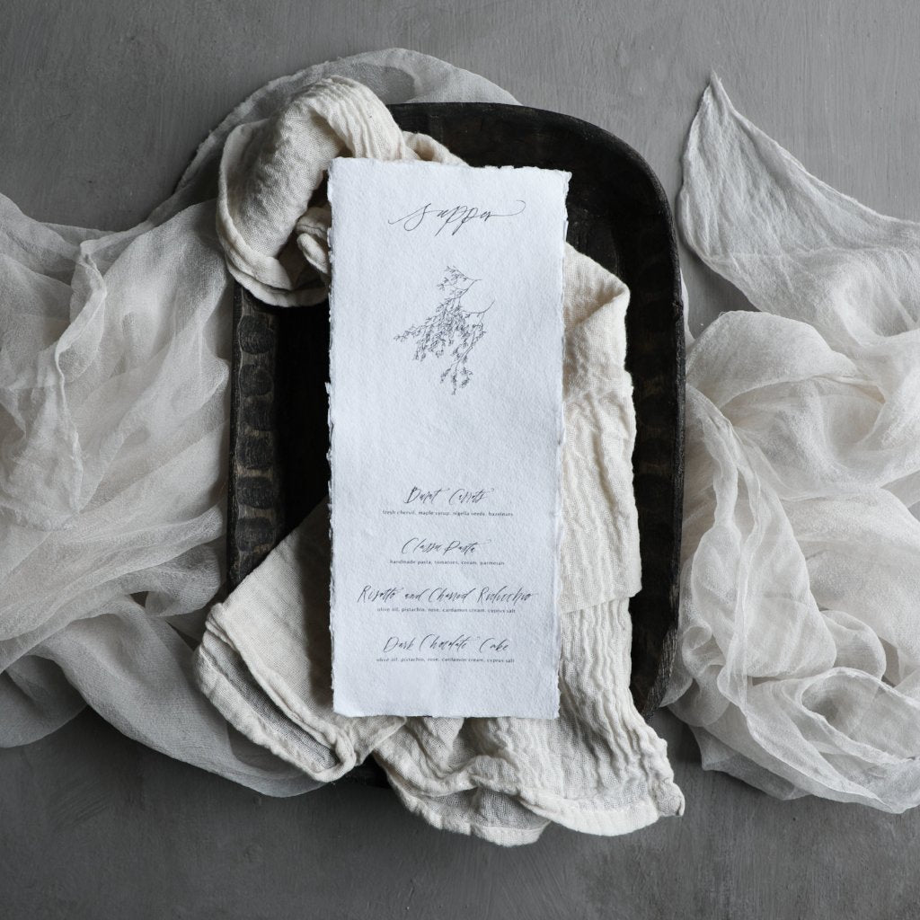 Antique White Napkins / Finished Edge {Tight Weave}