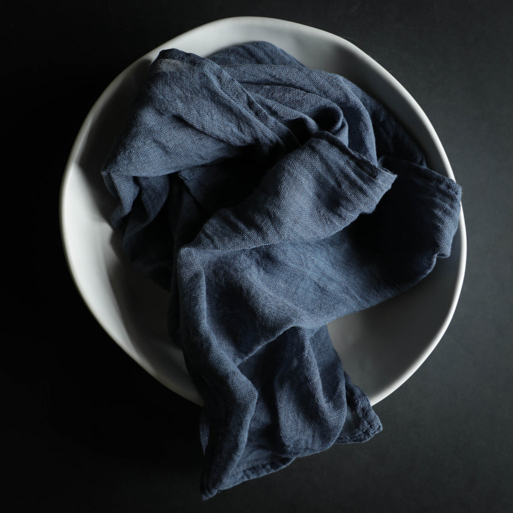 Blue Slate Napkins / Finished Edge {Tight Weave}